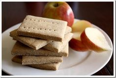 Grain-Free, Gluten-Free Graham Cracker Recipe {Paleo- just use honey, no sugar. Gluten Free Grains, Gluten Free Sweets, Foods With Gluten, Gluten Free Baking, Gluten Free Recipes, Scd Recipes, Gluten Free Graham Crackers, Graham Cracker Recipes, Homemade Graham Crackers
