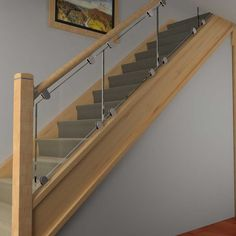DIY Glass Panelled Stair Kit - Transform your stairs with our complete kit with Glass, clamps, fixings and railings (optional). Quick delivery. Online quote and order tool on our website https://www.stairfurb.co.uk/