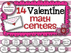 14 hand-on math Centers for the month of February!