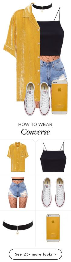 """?"" by gustavia5347 on Polyvore featuring WithChic, Dries Van Noten, Converse and Mateo"