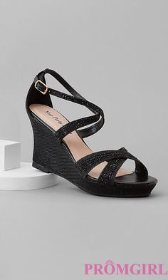 Shop PromGirl for prom shoes and prom accessories like Shoes for prom, prom jewelry, prom handbags, and accessories for special occasions. Black Evening Shoes, Black Evening Dresses, Prom Accessories, Thing 1, Prom Heels, Prom Jewelry, Prom Girl, Party Shoes, Black Wedges