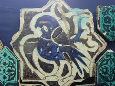 Konya Karatay Ceramics Museum 2 2003 september Tile Art, Mosaic Art, Mosaic Tiles, Mosaics, Negative Space Art, Ancient Persian, Antique Tiles, Bird Design, Religious Art
