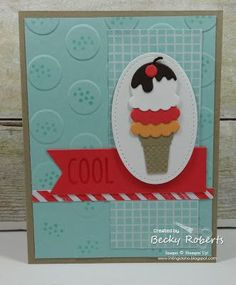 Polka Dot Cool Treats Card