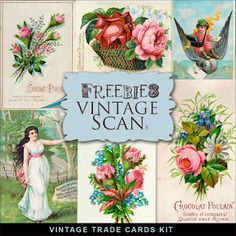 Freebies Cartões Comércio Vintage Kit