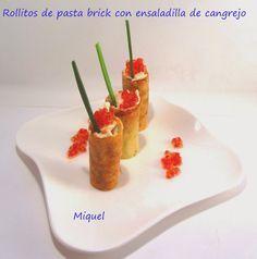 Les receptes del Miquel: Rollitos de pasta brick con ensaladilla de cangrejo