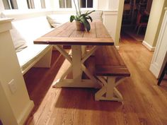 Frederick Dining Table  Chevron Trestle  Farmhouse  Reclaimed Wood  Custom   Handcrafted  Handmade  Made in USA  Solid Wood  Kitchen TableSomerset Crossed Leg Dining Table  Farmhouse  Reclaimed Wood  . Farmhouse Dining Table Made In Usa. Home Design Ideas