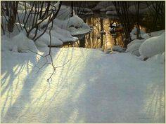 Winter Pond - Mergansers[duck] (c. 2000) by Robert Bateman by Plum leaves (in), via Flickr