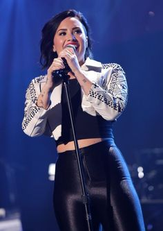 Demi Lovato at the Amalie Arena in Tampa Bay, FL - December 22nd