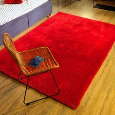 Add unequalled comfort to your interiors with our Buy Red 201 Soft UNI Shaggy Rug. Shaggy Rug, Uni, Toms, Willpower, Determination, Color Red, Interior, Modern, Strength