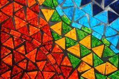 An artful mosaic is just as much procedure as it is skill.