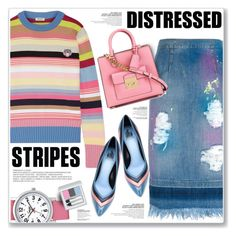"""STRIPES & DISTRESSED"" by nanawidia ❤ liked on Polyvore featuring Kenzo, Speidel, MARCOBOLOGNA, RMK, Lanvin, MICHAEL Michael Kors, distresseddenim, polyvoreeditorial, polyvorecontest and BoldStripes"