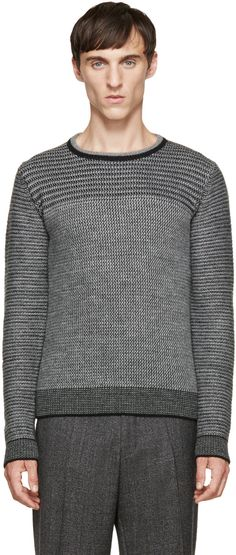 Wooyoungmi Two-Tone Knit Sweater