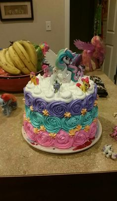 My Little Pony Rainbow Rose Swirl Cake Scrummy Chocolate Cake with