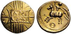 Trinovantes. Tasciovanos, c. 25 BC - AD 10. Stater (Gold). TASCI  RICON within double panel over vertical wreath
