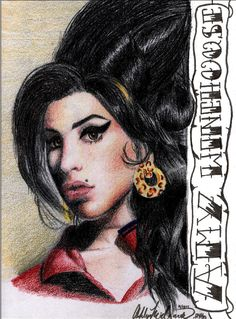 Amy Winehouse Portrait by SketchbookFlavor on deviantART