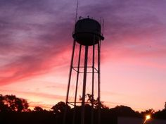 Graceville water tower at sunrise!