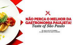 De 8 a 11 de setembro o Taste São Paulo reunirá 16 grandes nomes da gastronomia paulistana, aulas práticas e demonstrações de renomados chefs, feira de produtos, música e gente interessante em um ambiente cheio de charme. http://kardapion.com/evento/taste-sao-paulo-2016