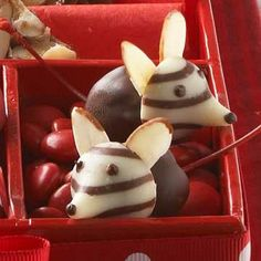 Fun Holiday Dessert Ideas - Christmas Mice - Click Pic for Easy Christmas Dessert Recipes