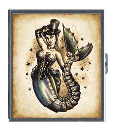 Steampunk mermaid, want as tattoo. Thigh?