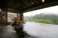 Hakone Ginyu - hot springs and infinity pool over mt fiji