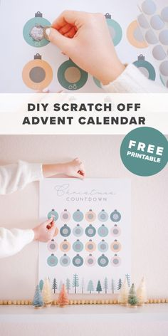 Free Printable Scratch-Off DIY Advent Calendar | Click through to get the free printable advent calendar, and to see how I made it! Make your own scratch-off advent calendar this Christmas! #christmasdiy #freeprintable #adventcalendar #advent #scratchoff #christmascountdown #christmas #diy #easydiy #diyadventcalendar