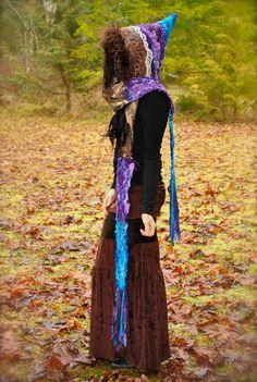 FestivaL Hood, Women's Scoodie, Pixie, Gypsy Scoodie, Pixie Hood, Hippie Hoodie, Gypsy Clothes by Intergalactic Apparel