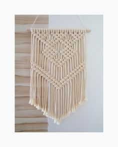 Your place to buy and sell all things handmade Macrame Wall Hanging Patterns, Weaving Wall Hanging, Hanging Fabric, Boho Wall Hanging, Macrame Plant Hangers, Macrame Patterns, Hanging Tapestry, Wall Hangings, Macrame Curtain