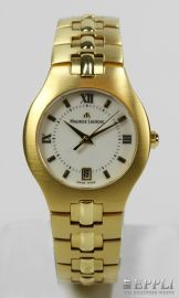 Maurice Lacroix ladies watch gold plated, frosted, Quartz movement, with original case and papers Starting Bid: € 220.00
