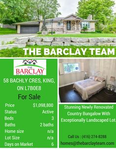 Hardwood Flooring Throughout, Pot Lights,Gas Fireplace,Wainscotting,Modern Kitchen With White Cabinets, Granite Counter Tops,Gas Stove With Water Filter Tap, 9Ft Ceilings. Large Pool Sized Backyard Which Goes Well Past Chain Link Fence. Call @The Barclay Team at (416) 274-8288 now