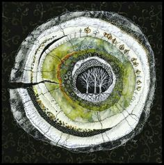 Lorraine Roy - Heartwood - Poplar circular textile art with trees Art Fibres Textiles, Textile Fiber Art, Textile Artists, Fiber Art Quilts, Landscape Art, Landscape Edging, Landscape Paintings, Landscape Photography, Contemporary Landscape