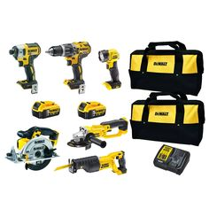 Find DeWalt 18V XR Li-Ion Cordless 6 Pce Combo Kit with 2 x 5.0Ah Batteries at Bunnings Warehouse. Visit your local store for the widest range of tools products.