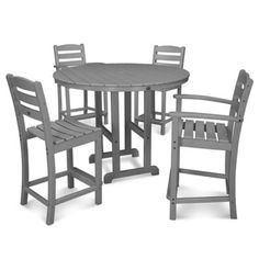 POLYWOOD® La Casa 5-Piece Counter Dining Set - BedBathandBeyond.com