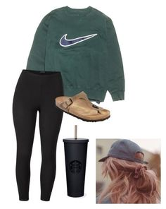 """""""Casual"""" by cierragortzen on Polyvore featuring NIKE, Venus, Birkenstock and plus size clothing"""