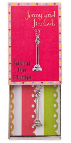 Taking the Plunge - Plunger necklace