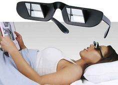 These prism glasses: No one should have to be forced to sit upright while reading or watching TV. Lol | 19 Absolutely Necessary Products For Lazy People