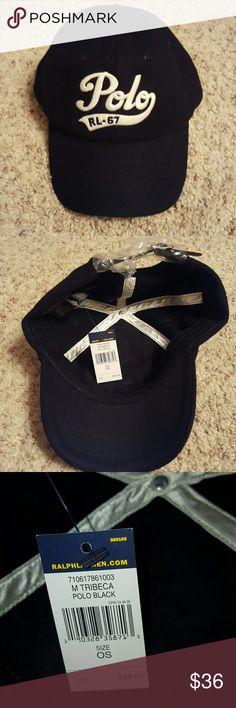 the best attitude d3fde 4b2cc Polo NWT black wool cap with cream writing Polo NWT men s black wool hat  with cream writing Polo by Ralph Lauren Accessories Hats