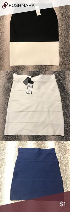 BCBG bandage skirts! Some NWT! Assorted BCBG skirts for sale! Amazing sketchy yet conforming material that makes your curves pop!  Please comment with your request and I will make a new listing for you to buy. BCBG Skirts