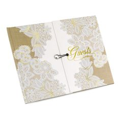 Rustic Charm and Lace Gatefold Wedding Ceremony Guest Book