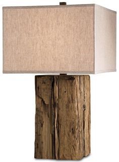 """150 Watt Wood Table lamp with seedy glass ball. Has 3-way socket. 32"""" Height. Sand Empire Linen Shade included. Lamp shade is 5"""" x 19"""" x 12"""""""