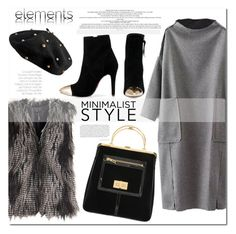 """""""Chic Minimalist Style"""" by j-sharon ❤ liked on Polyvore featuring Balmain, Minimaliststyle and bhalo"""