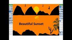 Tuxpaint Tuxpainttutorial Beautiful Sunset Drawing In Tux Paint Tux Paint Beautiful Sunset Drawings