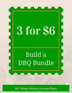 Teachers, save time and money by picking any 3 DBQs from my store and ...