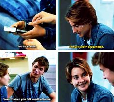Literally a line from the book. This movie was so spot on, thank you Book Tv, The Book, Hazel And Augustus, Fault In The Stars, Jhon Green, Tfios, Divergent Quotes, John Green Books, Augustus Waters