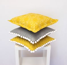 Retro pillow covers designed and made by LALLY CHIC