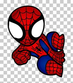 How to Draw Spiderman, Chibi Superheroes Spiderman Tattoo, Spiderman Bebe, Spiderman Chibi, Spiderman Kunst, Spiderman Drawing, Chibi Marvel, Spider Man Party, Spaider Man, Marvel Characters