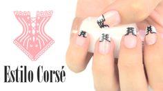 Diseño de uñas corsé