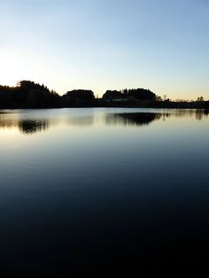 """Indian summer sunset at the fishing lake V | waterscape photography"". Klaffer am Hochficht, Österreich / Austria"