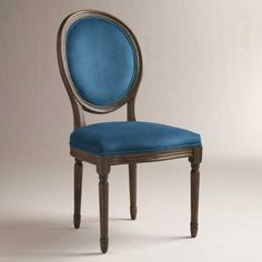 As our desk chairs- Peacock Ella Side Chairs, Set of 2 French Dining Chairs, Dining Room Chairs, Dining Furniture, Table And Chairs, Side Chairs, Desk Chairs, Victorian Dining Chairs, Dining Table, Blue Furniture