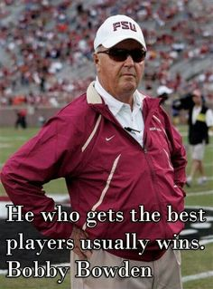 THE  MAN  THAT MADE FLORIDA STATE UNIVERSITY MORE THAN JUST EXCELLENCE IN THE CLASSROOM.