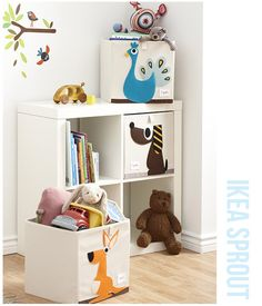 Toy storage box with an applique felt Rhino. They even fit the IKEA shelving range. We stock a cute and modern range of toy storage boxes for the Nusery or playroom. This delightful Rhino storage box should encourage your little one to help tidy up ! Nursery Storage Baskets, Toy Storage Boxes, Playroom Storage, Toy Bins, Kids Storage, Cube Storage, Storage Ideas, Storage Caddy, Cube Organizer